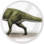 Sinraptor Dongi, A Prehistoric Era Round Beach Towel