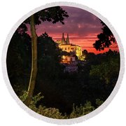Sintra Palace Round Beach Towel
