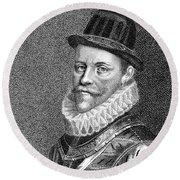 Sir John Hawkins (1532-1595) Round Beach Towel