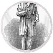 Sir Rowland Hill (1795-1879) Round Beach Towel