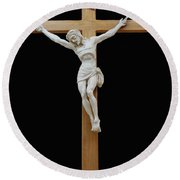 Sjncc Crucifix 1 Two K Eleven Round Beach Towel