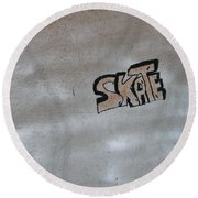 Skate Round Beach Towel