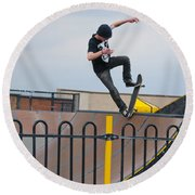 Skateboarding Ix Round Beach Towel