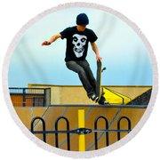 Skateboarding Xi Round Beach Towel