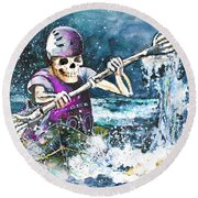 Skelet Oar Round Beach Towel