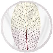 Skeleton Leaf Round Beach Towel
