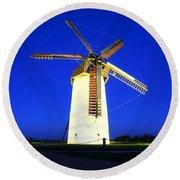 Skerries Windmill, Co Dublin, Ireland Round Beach Towel