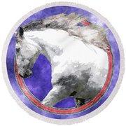 Sky Andalusian Round Beach Towel