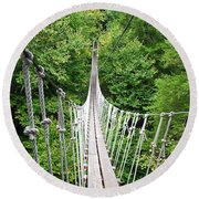 Sky Bridge Round Beach Towel