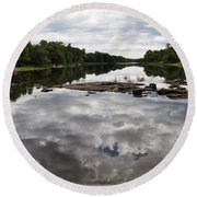 Sky In The Water Round Beach Towel