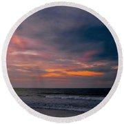 Sky Of Pastels Round Beach Towel