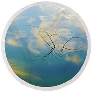 Sky On Water Round Beach Towel by Brian Wallace