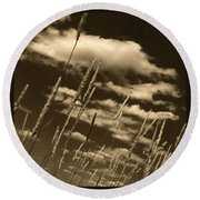 Sky Writer Round Beach Towel