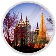 Slc Temple Tree Light Round Beach Towel