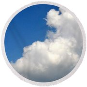 Sleeping Bear Cloud Round Beach Towel