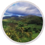 Slieve Bearnagh, Mourne Mountains, Co Round Beach Towel