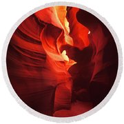 Slots On Fire Round Beach Towel