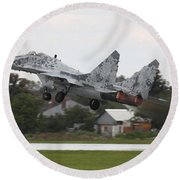 Slovak Air Force Mig-29 Fulcrum Taking Round Beach Towel