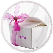Small Box Of Chocolates Round Beach Towel