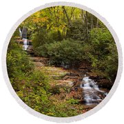 Small Stream Round Beach Towel