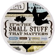 Small Stuff Round Beach Towel