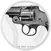 Smith & Wesson Revolver Round Beach Towel