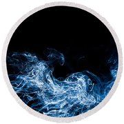 Smoke 7 Round Beach Towel