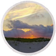 Smoke From A Distant Fire 2 Round Beach Towel
