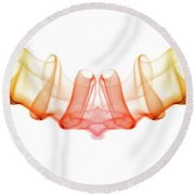 smoke XIX Round Beach Towel