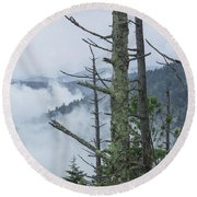 Smokey Mountain Forest No.612 Round Beach Towel