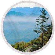 Smoky Mountain View Round Beach Towel