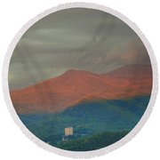 Smoky Mountain Way Round Beach Towel