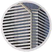 Smurfit And The Bean Round Beach Towel