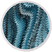 Snake Abstract Round Beach Towel