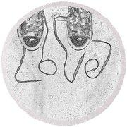 Sneaker Love 2 Round Beach Towel by Paul Ward