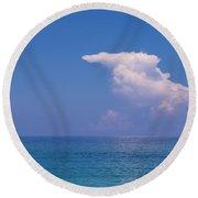 Snorkeler In Paradise Round Beach Towel