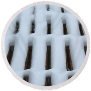 Snow Abstract 4 Round Beach Towel