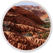 Snow Canyon 2 Round Beach Towel