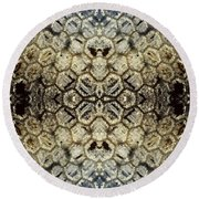 Snow Fence - Abstract Round Beach Towel