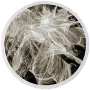 Snow Storm Abstract Round Beach Towel