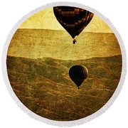 Soaring Heights Round Beach Towel
