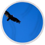 Soaring Vulture Round Beach Towel