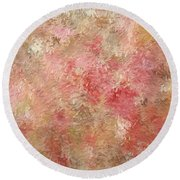 Soft Autumn Colors Round Beach Towel
