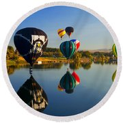 Soft Landings Round Beach Towel by Mike  Dawson