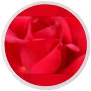 Soft Red Rose Round Beach Towel