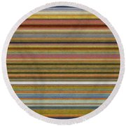 Soft Stripes L Round Beach Towel