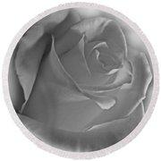Soft White Rose Round Beach Towel