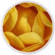 Softness In Yellows Round Beach Towel