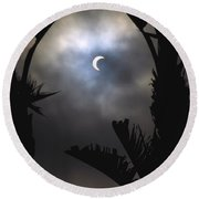 Solar Eclipse II Round Beach Towel