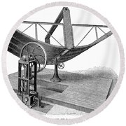 Solar Engine, 1884 Round Beach Towel